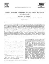 Creep of magnesium strengthened with high volume fractions of ...