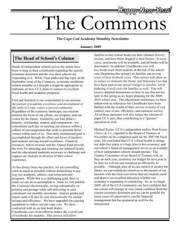 The Head of School's Column - Cape Cod Academy