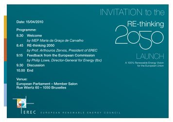 invitation RE-thinking2050 launch - European Renewable Energy ...