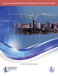 IT Strategic Plan - City of Bellevue