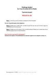 Challenge étudiant Du 12 au 23 octobre 2012 - La Communauté d ...