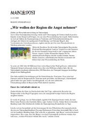 """""""Wir wollen der Region die Angst nehmen"""" - Nationalpark Steigerwald"""
