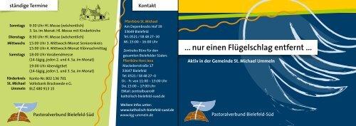 nur einen Flügelschlag entfernt - Pastoralverbund Bielefeld-Süd