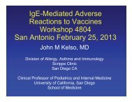 IgE-Mediated Adverse Reactions to Vaccines Workshop ... - AInotes