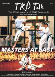 The Official Magazine of ITFNZ Taekwon-Do - International Taekwon ...