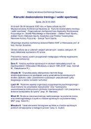 Sprawozdanie z Międzynarodowej Konferencji Naukowej pt