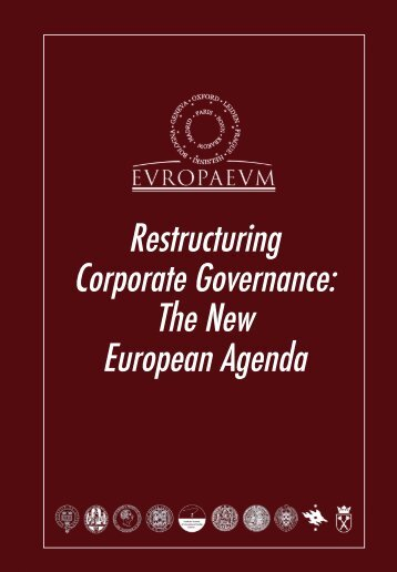 to download a Special Report of this meeting - The Europaeum