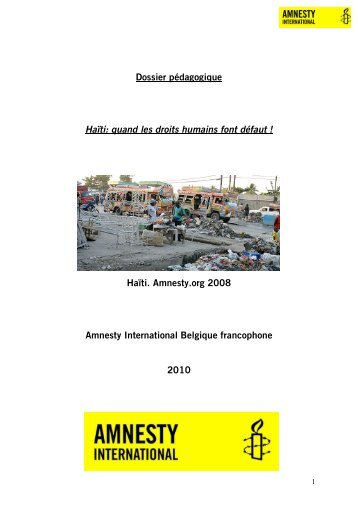 Document - AMNESTY INTERNATIONAL.be
