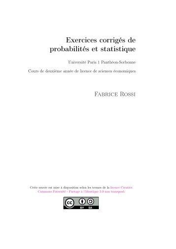 Exercices corrigés de probabilités et statistique - Fabrice Rossi