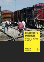 Des victimes invisibles. Protégez les migrants au ... - amnesty.be