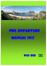 Pre-Departure MANUAL 2012 - PUC-Rio