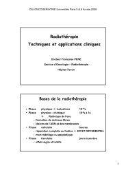 Bases de la radiothérapie - longue vie et autonomie (HEGP)