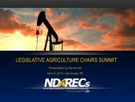 legislative agriculture chairs summit - State Agriculture and Rural ...