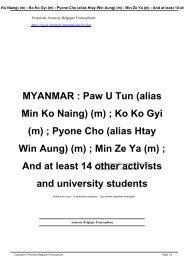 MYANMAR : Paw U Tun (alias Min Ko Naing) (m) ; Ko ... - amnesty.be