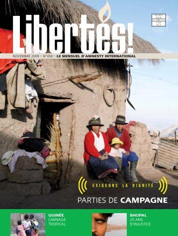 libertes 458:libertés - AMNESTY INTERNATIONAL.be