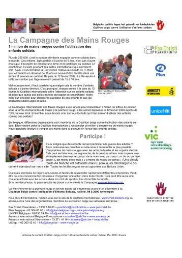 La Campagne des Mains Rouges - AMNESTY INTERNATIONAL.be