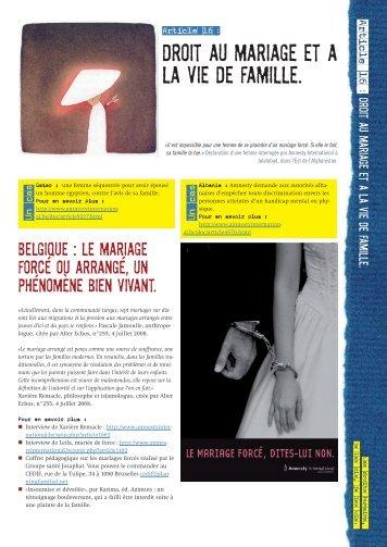 fiche jeune - AMNESTY INTERNATIONAL.be