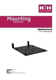 LH 41 Operating Manual v04 - Installed Sound
