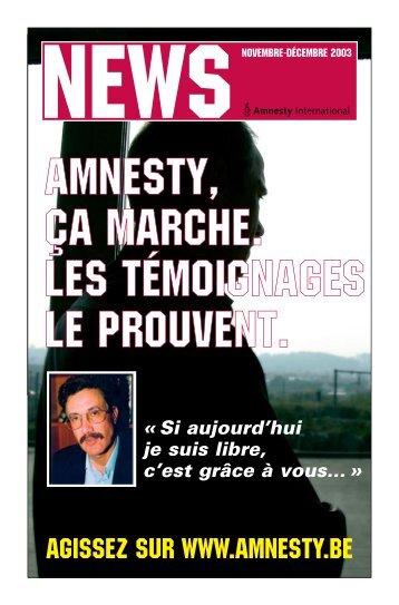 News - AMNESTY INTERNATIONAL.be