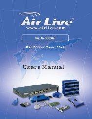 WLA-500AP WISP Client Router Mode - Download