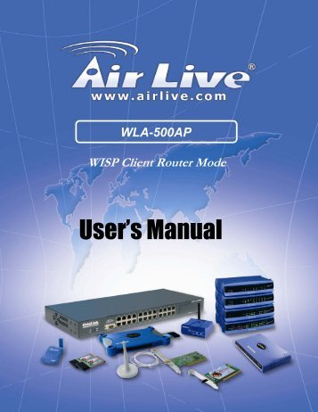 WLA-500AP WISP Client Router Mode - Download