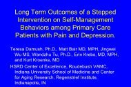 Long Term Effects of a Stepped Intervention on Self-Management ...