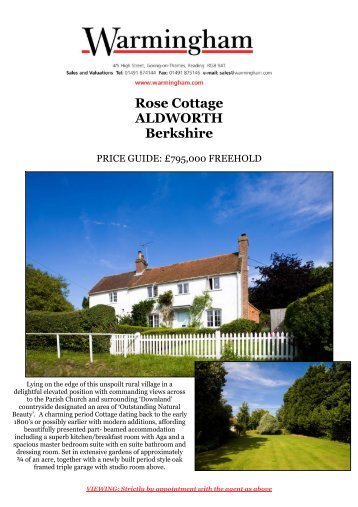 Rose Cottage ALDWORTH Berkshire - Warmingham