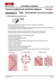 Travaux pratiques de systèmes logiques Corrigé Laboratoire ... - EPFL