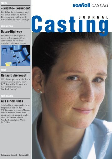 Casting Journal September 2001 - vonRoll casting