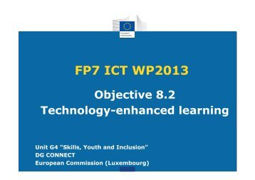 FP7 ICT WP2013 - ICTIC.org