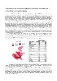 La mobilità per prestazioni ambulatoriali di gastroenterologia nella ...