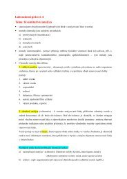 Laboratorní práce č. 6 Téma: Kvantitativní analýza - Chemie na GJO