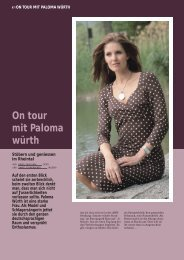 On tour mit Paloma würth