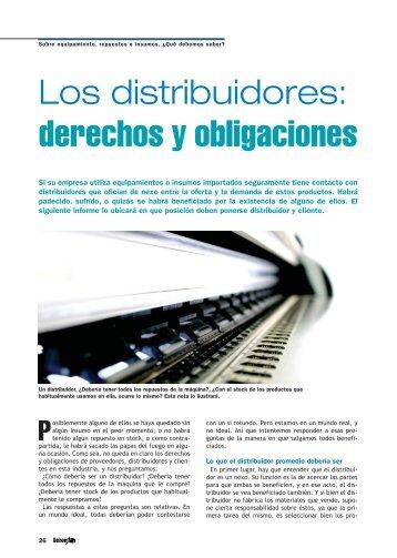 Los distribuidores: derechos y obligaciones. - Revista Letreros