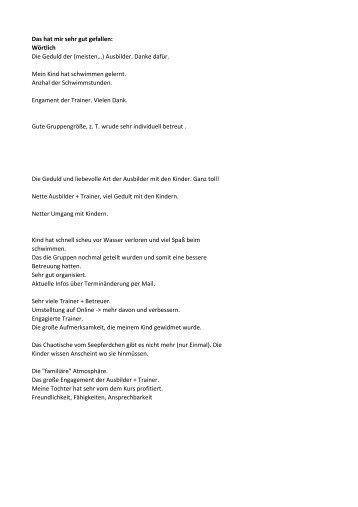 Das hat mir sehr gut gefallen - DLRG Ortsgruppe Seligenstadt