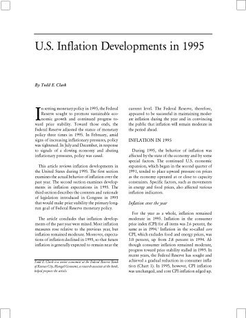 U.S. Inflation Developments in 1995 - Federal Reserve Bank of ...