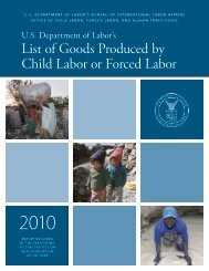Department of Labor, List of Goods Tainted by Forced ... - Free2Work