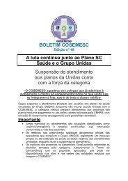 Boletim COSEMESC - Sindicato dos Médicos do Estado de Santa ...