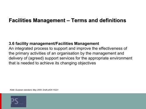 Peder Stephensens præsentation - Dansk Facilities Management