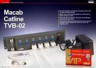 • Verteilt analoge und digitale TV Signale über ... - TELE-audiovision