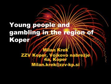 Young people and gambling in the region of Koper