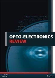 OPTO-ELECTRONICS REVIEW - Versita