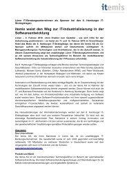 itemis weist den Weg zur IT-Industrialisierung in der ... - itemis AG