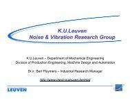K.U.Leuven Noise & Vibration Research Group - PolSCA