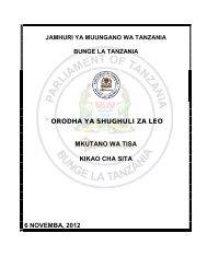 orodha ya shughuli za leo mkutano wa tisa kikao cha sita 6 ...