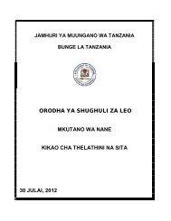 orodha ya shughuli za leo mkutano wa nane kikao cha thelathini na ...