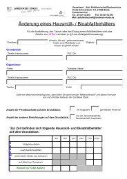 Formular zum An-/Um