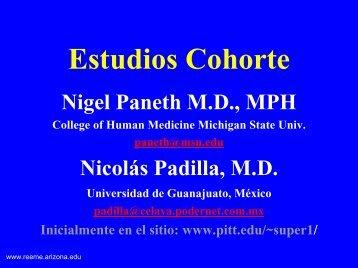 Estudios Cohorte - Reeme.arizona.edu