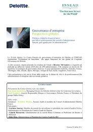 Gouvernance d'entreprise Perspectives globales - Center for ...
