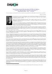 Texte de l'intervention de Mme Marie-Pierre DANIEL, de ... - L'Afcdp